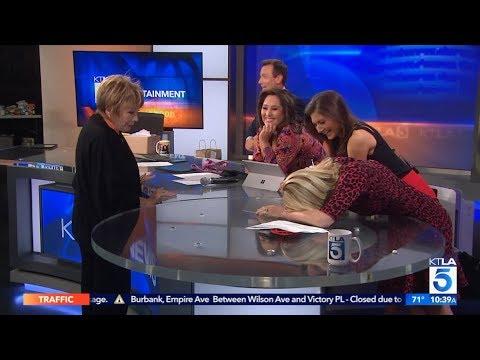 Bonus: Shirley MacLaine Surprises KTLA Anchors on Set