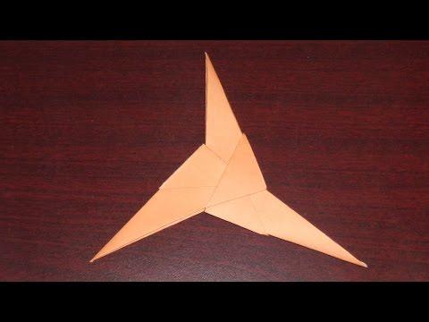 How to Make a Three Bladed Paper Ninja Star (Shuriken) Easily