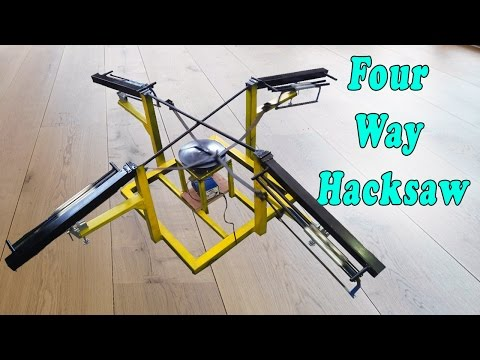 Mechanical Engineering project four way hacksaw new invention 2017