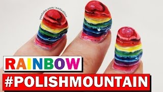RAINBOW #POLISHMOUNTAIN   Nailed It NZ Attempting Simply Nailogical's Challenge!