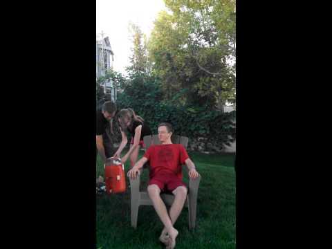 Ethan Ott doing the ice bucket challenge