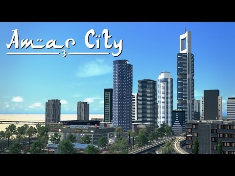 Cities Skylines: Amar City (Part 3) - Central Station & Shopping Mall