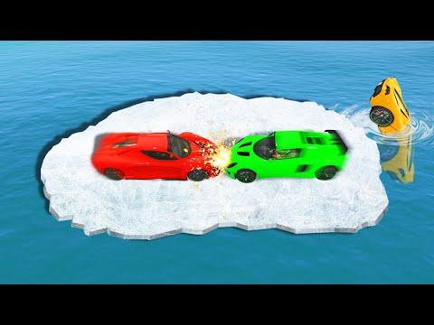 SLIPPERY DESTRUCTION DERBY ON ICE! (GTA 5 Funny Moments)