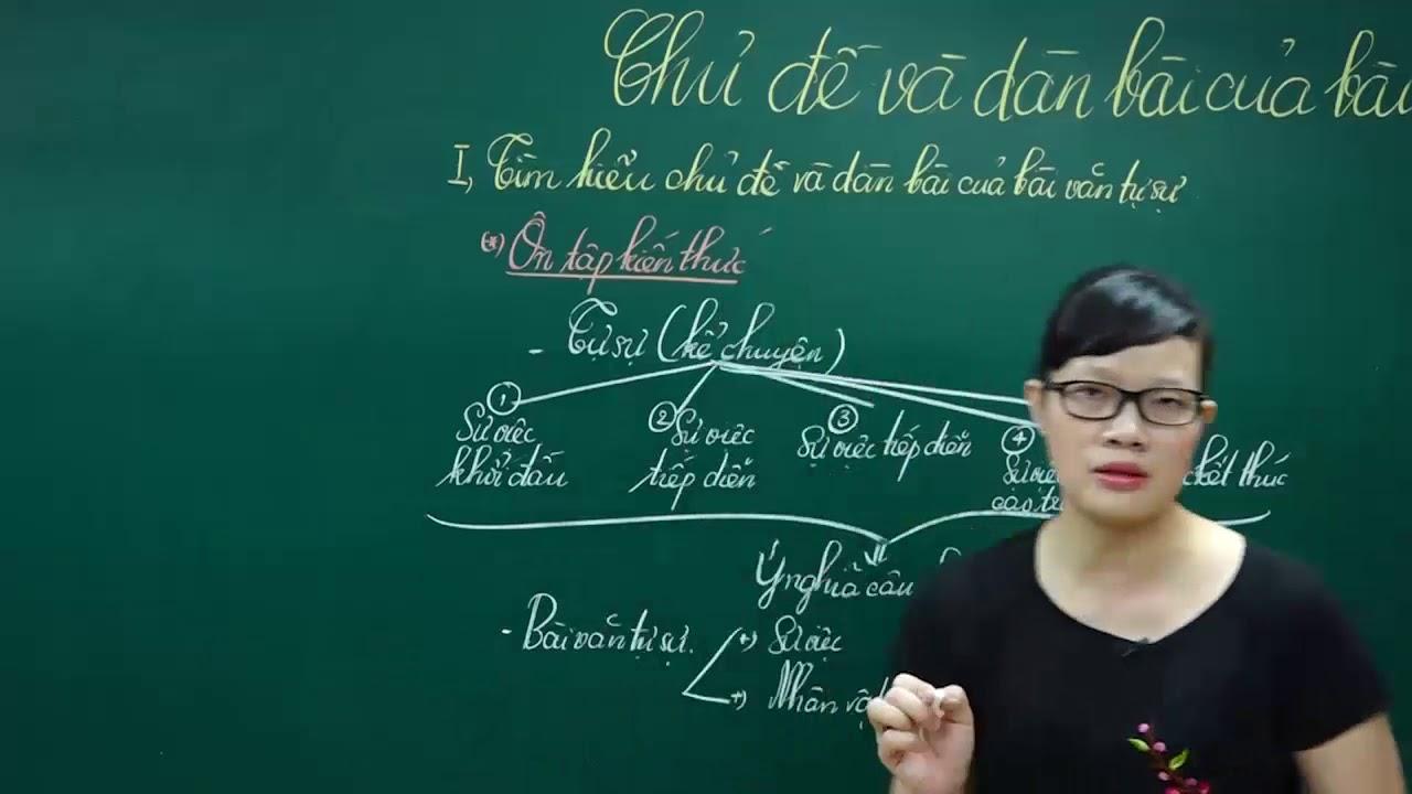 Ngữ Văn lớp 6 - Bài giảng hướng dẫn làm CHỦ ĐỀ VÀ DÀN BÀI VĂN TỰ SỰ ngữ văn lớp 6 học kì 1 tâp 1