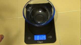 Professional Digital Kitchen Scale Ozeri Touch 17.6 lb Edition Tempered Glass video review