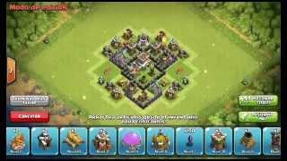 Diseño Aldea Ayuntamiento 4 Defensa- Clash Of Clans