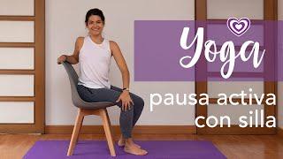 Yoga - Pausa con silla | Paloma & Caramelos