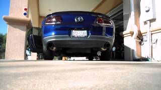 2012 v6 mustang with roush axle back exhaust before after bbk shorty headers