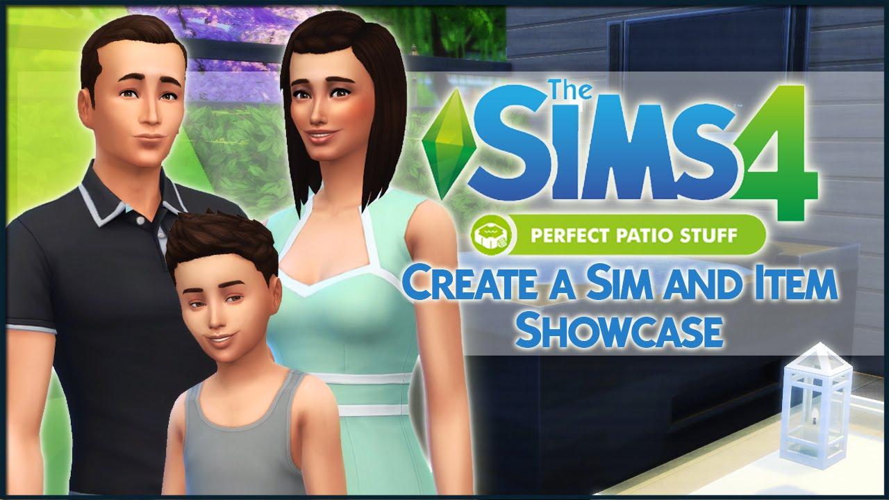 the sims 4 perfect patio stuff create a sim and item showcase