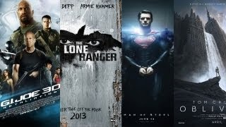 AMC Movie Talk - Trailer Reviews of Man Of Steel, GI Joe, Lone Ranger, Oblivion, After Earth