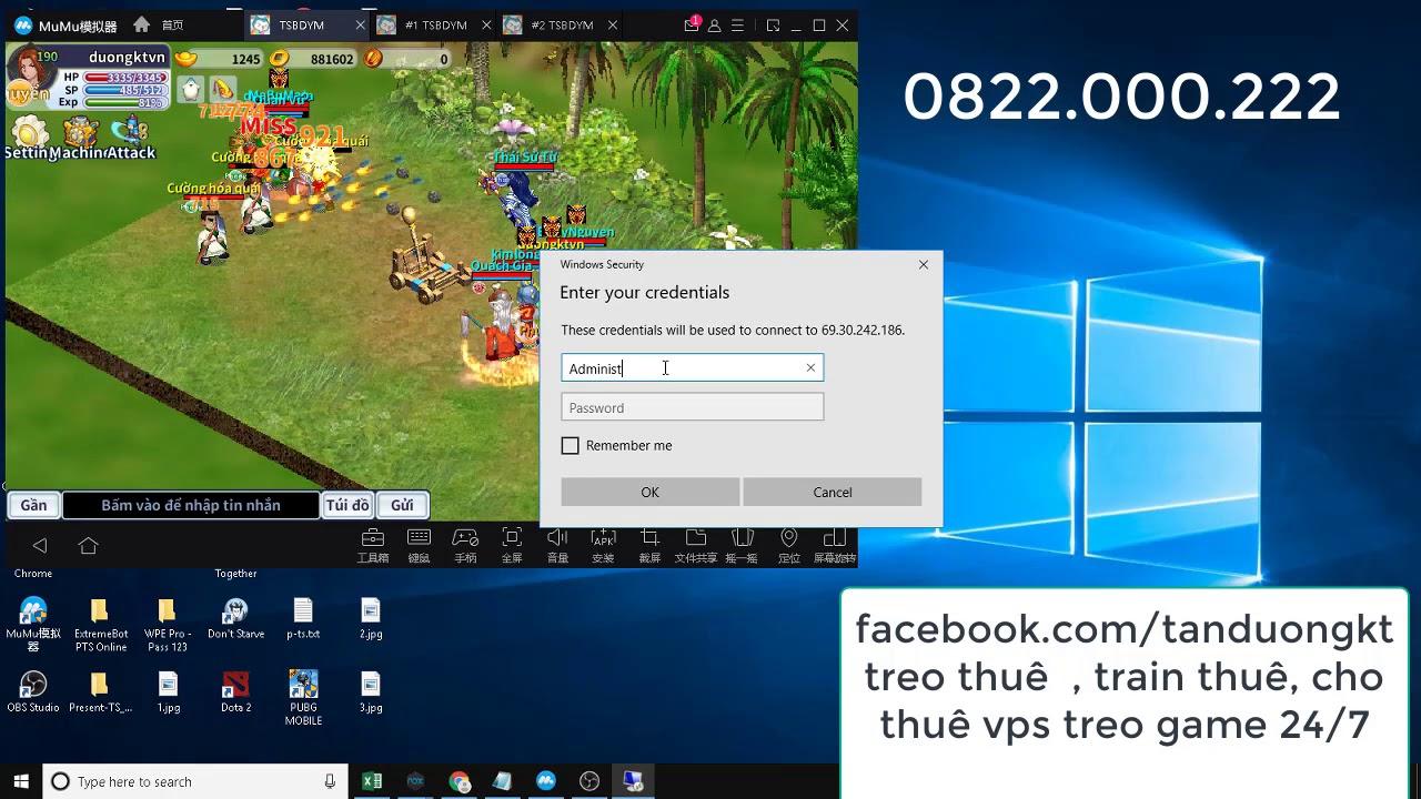 Ts Online Mobile – VPS là gì , Hướng dẫn kết nối và sử dụng VPS để treo game