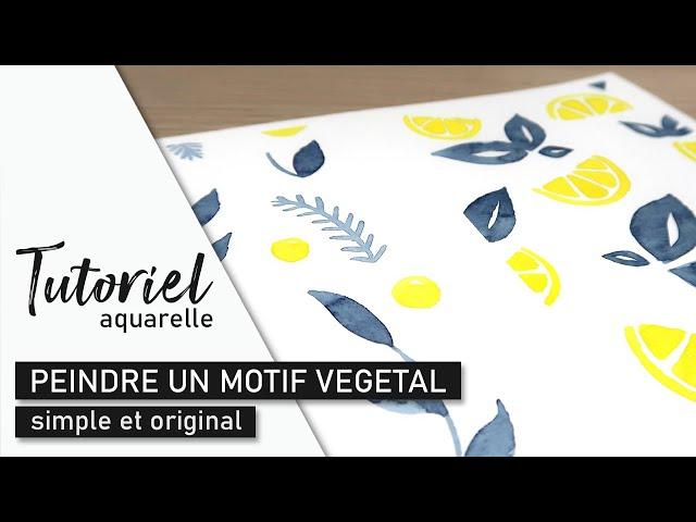 TUTO AQUARELLE - Peindre un motif végétal simple et original