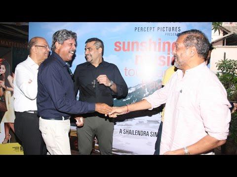 Nana Patekar & Kapil Dev At Sunshine Music Tours & Travels Movie Launch