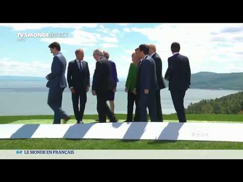 Sommet du G7 au Canada: sourires de façade et discussions tendues