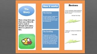 Learn how to make a trifold brochure using microsoft word.