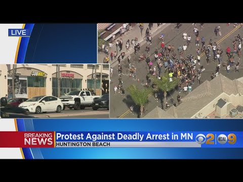 Unlawful Assembly Declared In Huntington Beach After Protesters Block Traffic On PCH