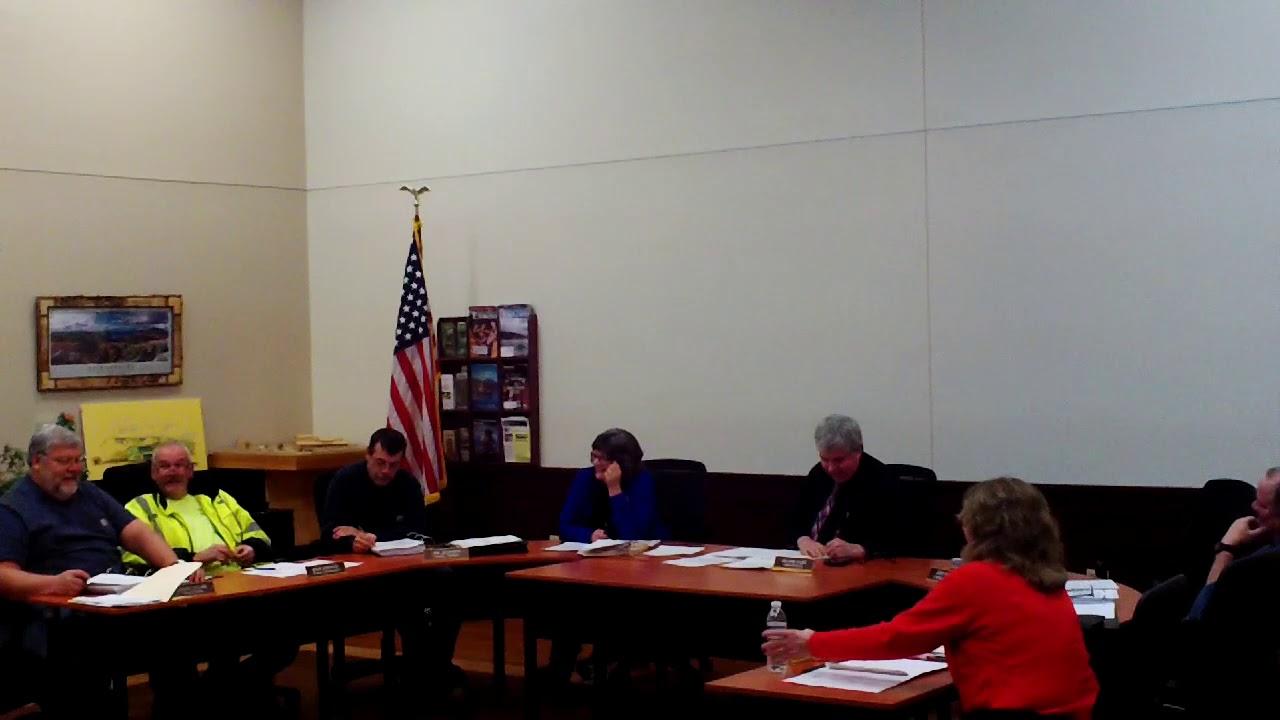 Dannemora Town Board Meeting  12-27-18