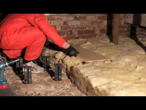 Fitting Loft Legs for improved loft insulation - Loftlegs