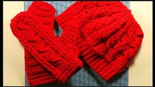 How To Crochet A Cabled Beanie/Messy Bun Hat Tutorial