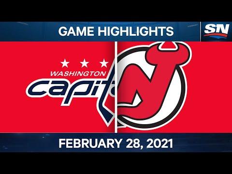 NHL Game Highlights | Capitals vs. Devils - Feb. 28, 2021 |