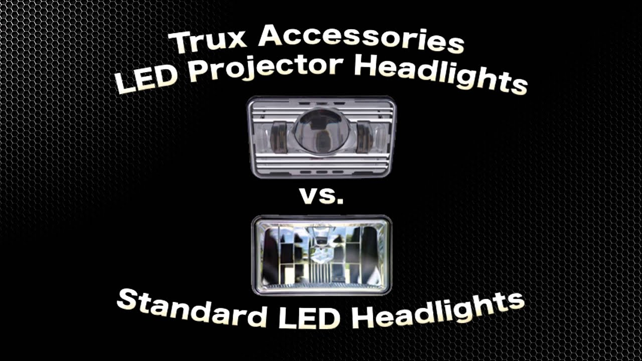 Halogen Light Vs Led >> Trux Projector LED Headlights vs Standard LED - YouTube
