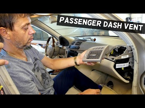 HOW TO REMOVE REPLACE DASH VENT PASSENGER SIDE ON MERCEDES W211