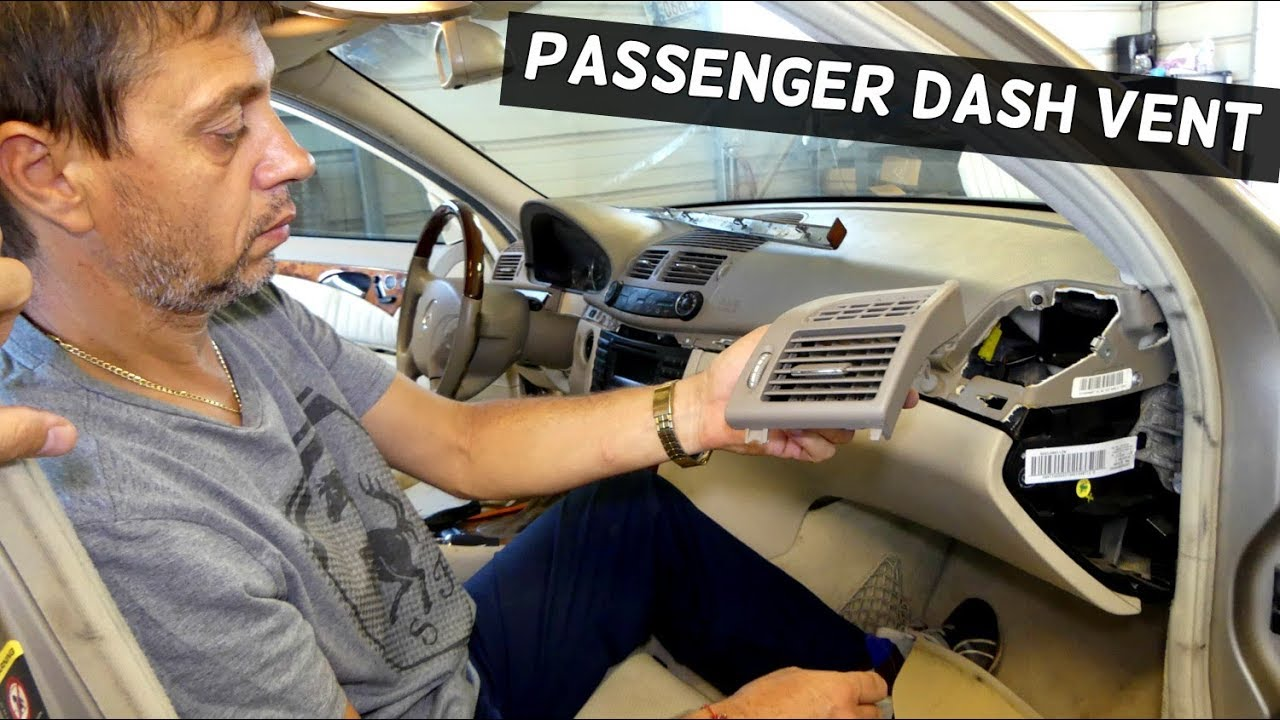 How To Remove Replace Dash Vent Passenger Side On Mercedes W211 Youtube