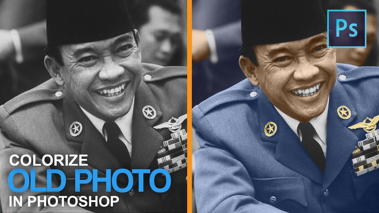Photoshop Tutorial Mewarnai Foto Hitam Putih Colorize A Black And