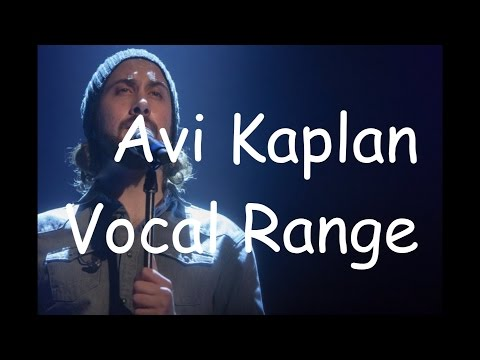 Avi Kaplan - Vocal Range (E1-C♯5) (By Axel Fuentes) OLD