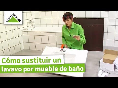 Sustituir un lavabo por un mueble de baño (Leroy Merlin)
