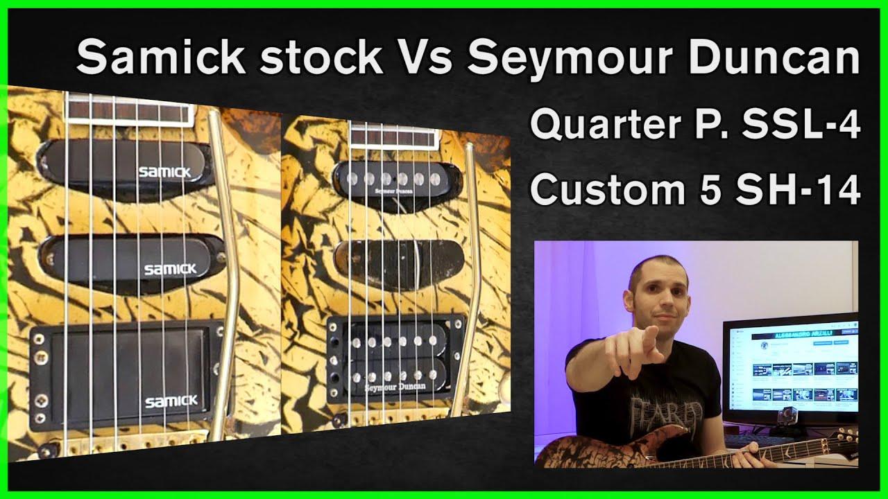 Seymour Duncan Quarter Pounder Ssl 4 And Custom 5 Sh 14 Comparison Test Youtube