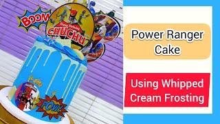 Power ranger cake making