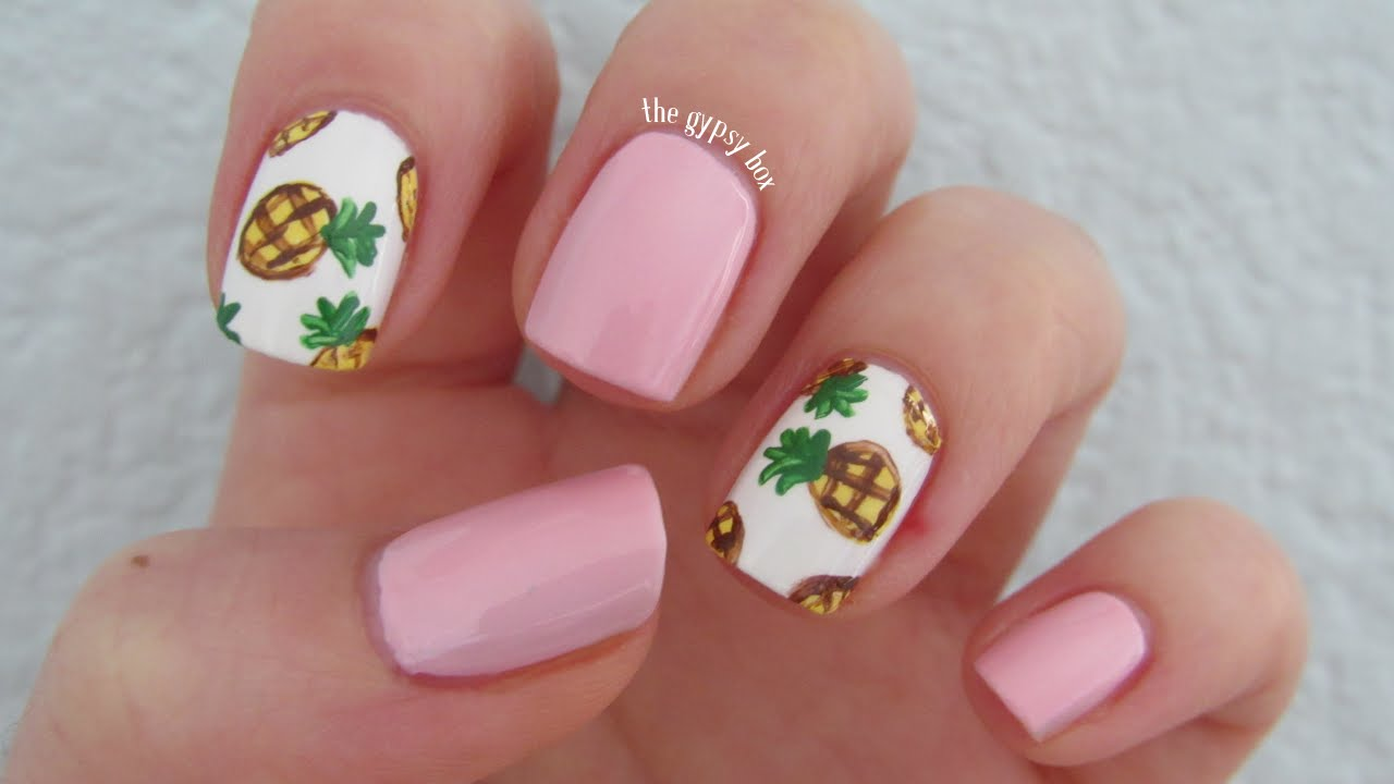 Pineapple Nail Art ... - Pineapple Nail Art Design TheGypsyBox - YouTube