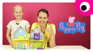 Игровой набор Peppa 🐽 Играем в Загородный дом Свинки Пеппы. Игрушки для девочек