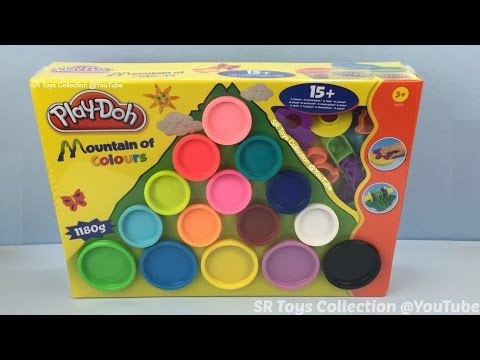 Learn Colours with Play Doh Mountain of Colours for Children Playdough Playset