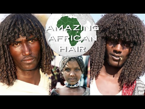 AFRICAN Ethopian Tribes Traditional Natural Hair Styles, Afar Tribe uses Raw Butter