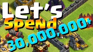 Clash of Clans: TH9 Farm with Max! LET'S SPEND 30,000,000+
