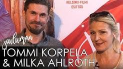 JOULUMAAN Milka Ahlroth ja Tommi Korpela haastattelevat toisiaan