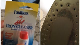 CLEANING MY IRON | FAULTLESS HOT IRON CLEANER