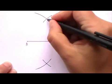 Constructing The Perpendicular Bisector Of A Line Segment Youtube
