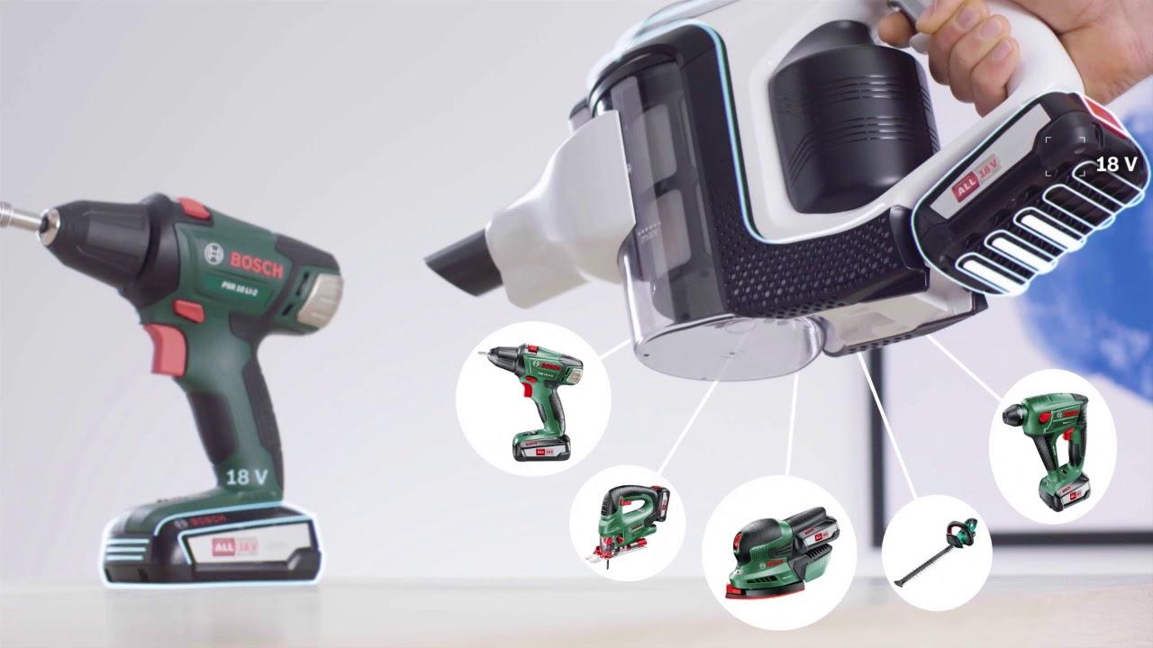 aspirateur sans fil unlimited de bosch syst me de batterie power for all youtube