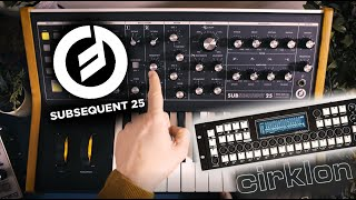 Moog Subsequent 25 Analogue Synth Demo & Cirklon MIDI Workout!