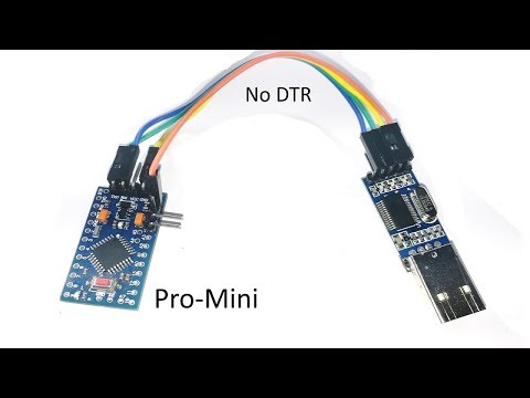 How to load Firmware / Sketch in Arduino Pro mini without using DTR Pin