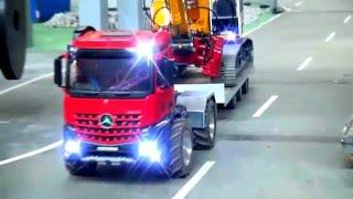 RC truck heavy haulage! R/C  Liebheer transport