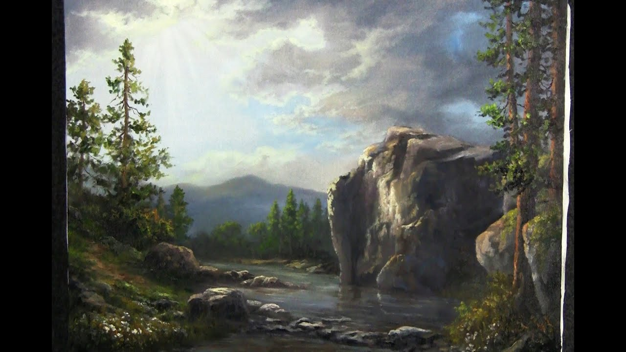 Fall Mountain Scenes Wallpaper Sunshine Across The Cliffs Paint With Kevin Hill