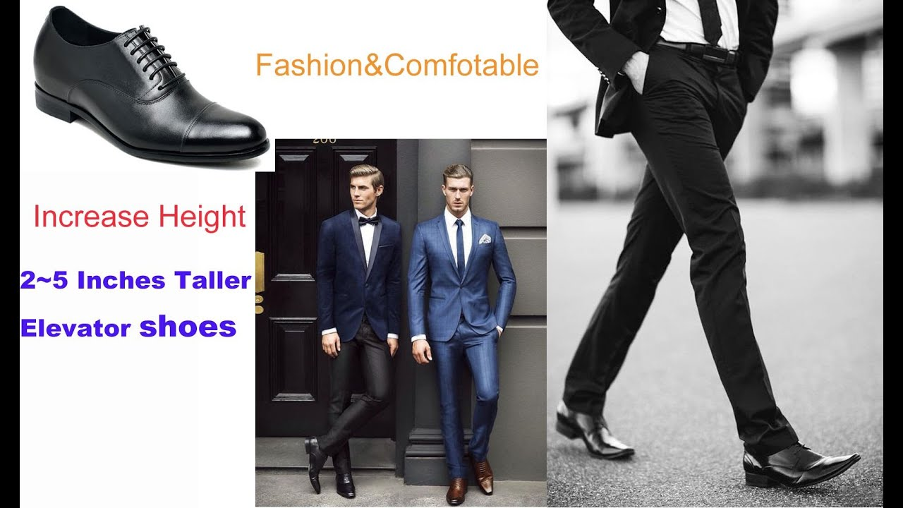 Chamaripa Elevator Shoes Make You Look Taller Increase Height 2 5 Inches Men Fashion