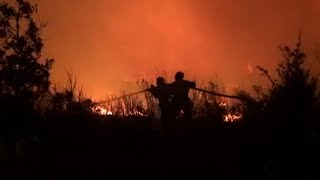 video: Fierce wildfire near Saint-Tropez forces thousands to evacuate