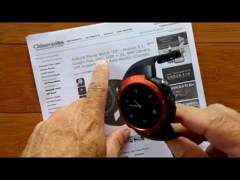 Z9 RUGGED Android 5.1 Round Smartwatch: Unboxing and 1st Look