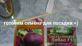 Посадка овощей за 5 минут ..морковь, свекла. Редис. Укроп ..петрушка салат.