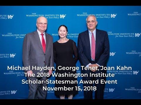 Washington Institute Honors Joan Kahn, Michael Hayden, George Tenet